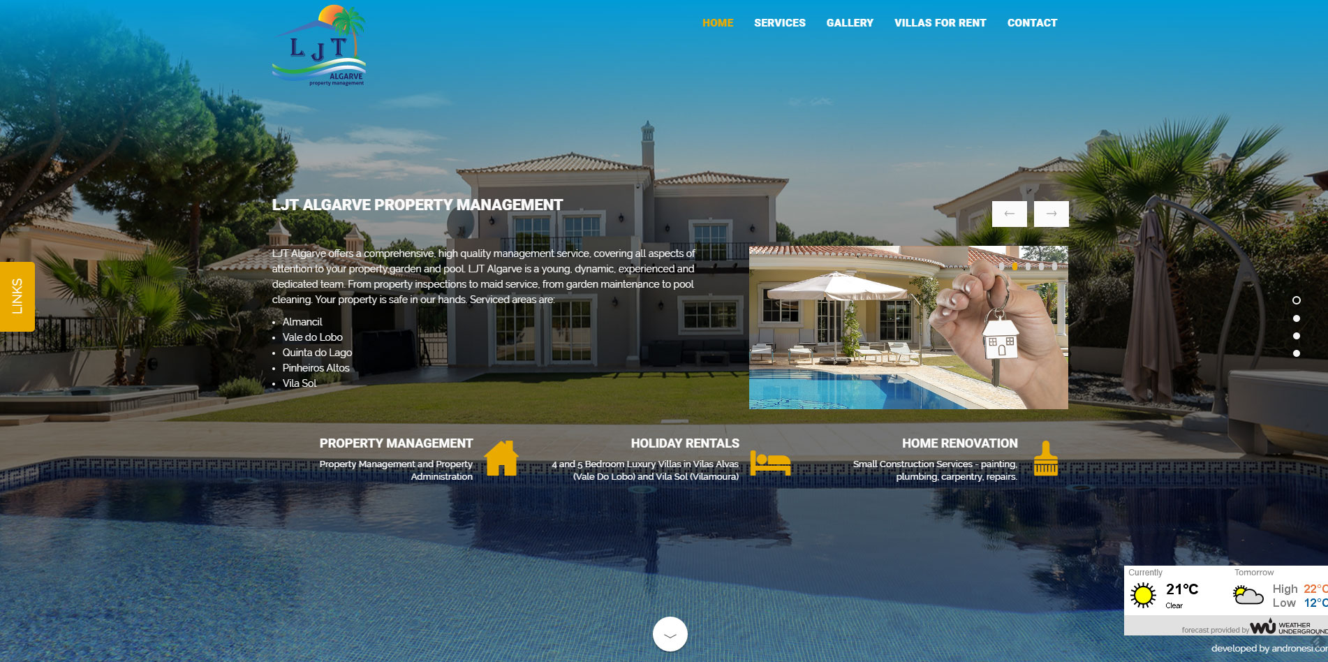 responsive website design for LJT Algarve
