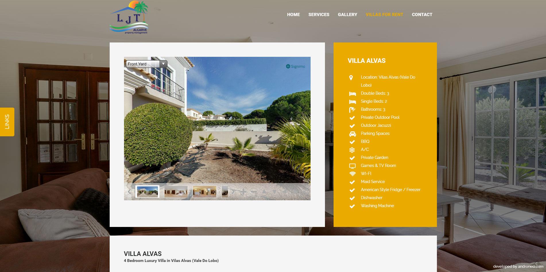 ljtalgarve responsive website redesign