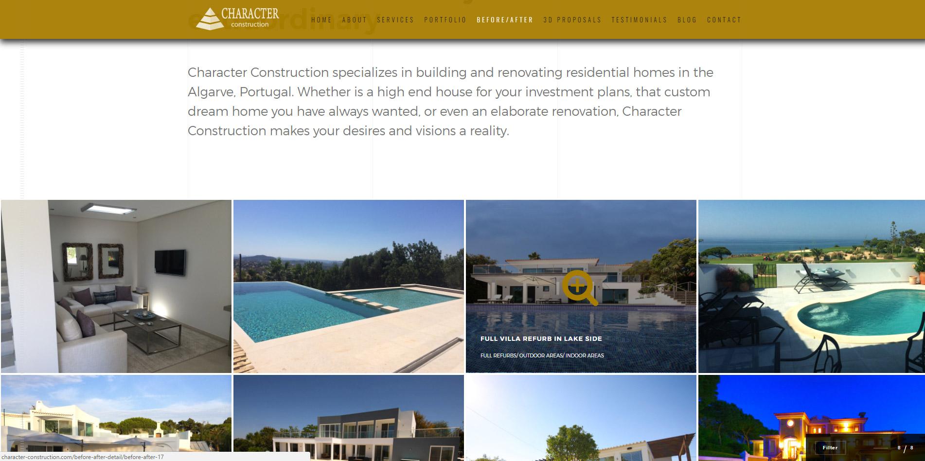 Portfolio Page design