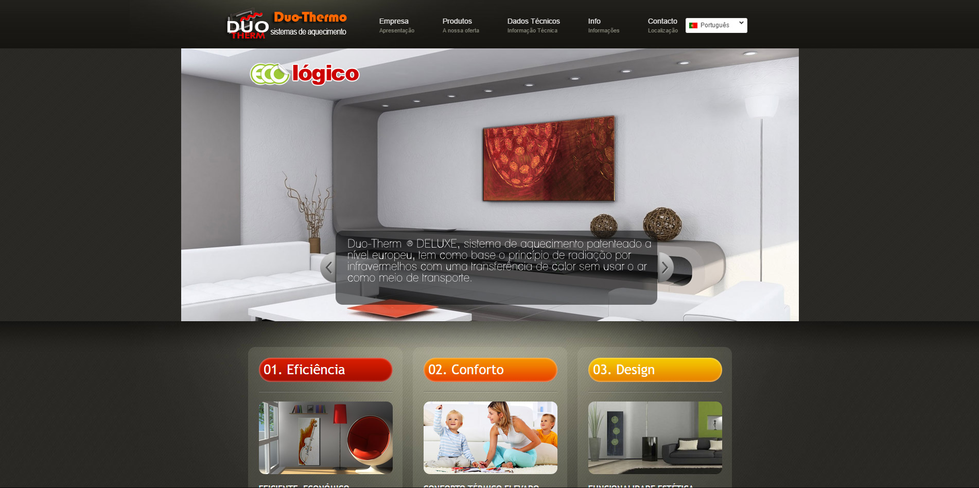website design for Duo-Thermo Algarve
