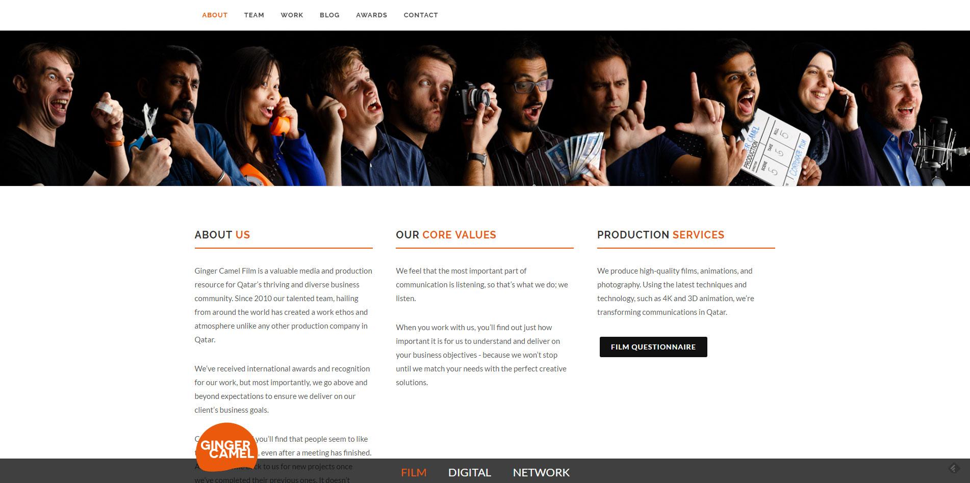 content page web development
