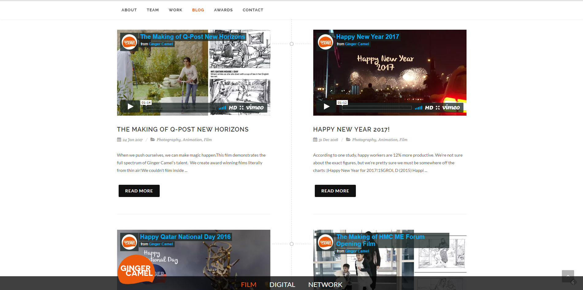 website content page redesign